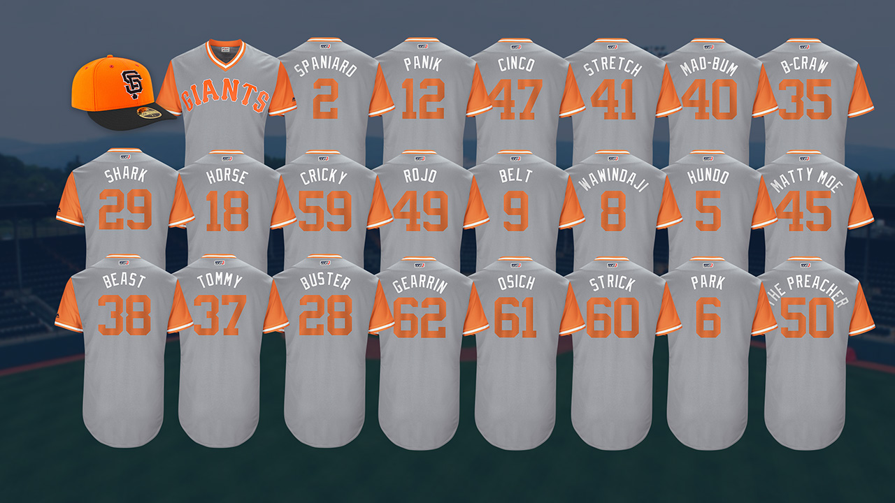 Giants to show personality in Players Weekend